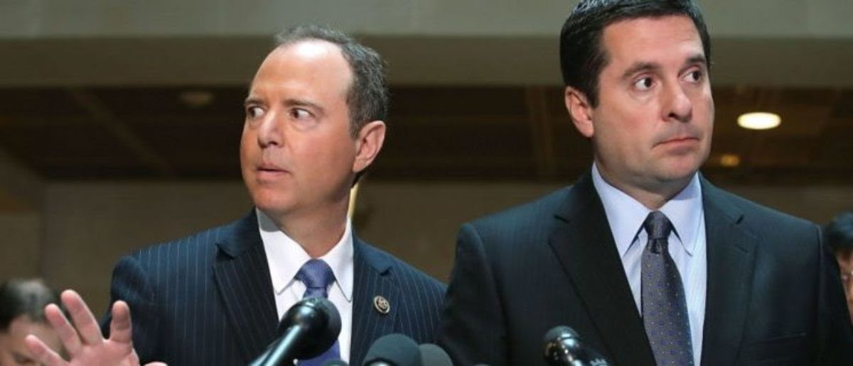 Devin Nunes (R-CA) and Rep. Adam Schiff (D-CA) at the US Capitol on March 15, 2017. (Mark Wilson/Getty Images)