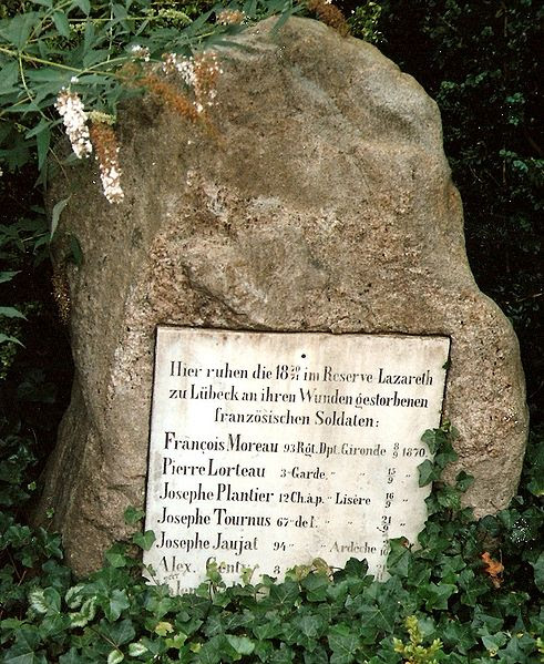 File:Burgthorfriedhof Lübeck, memorial to Franco-Prussian War.jpg