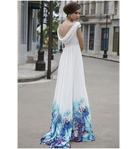 blue and white marbled wedding dress   marbled wedding
