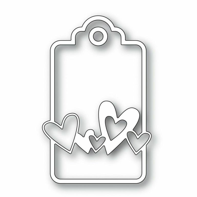 Simon Says Stamp SWEETHEART TAG Craft Die s255 DieCember