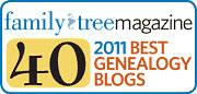 Family Tree Magazine Top 40 Blogs Award by midgefrazel