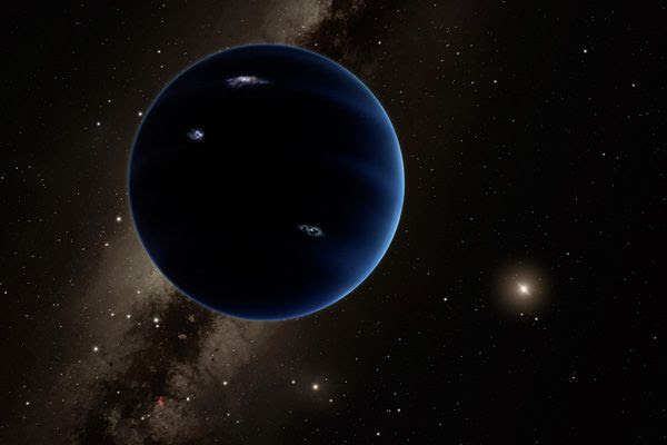 An artist's concept of Planet Nine orbiting the Sun.