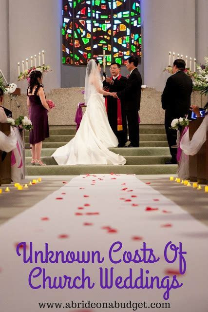 Unknown Costs Of Church Weddings   A Bride On A Budget
