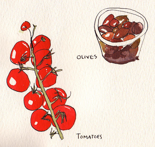 Tomatoes and olives