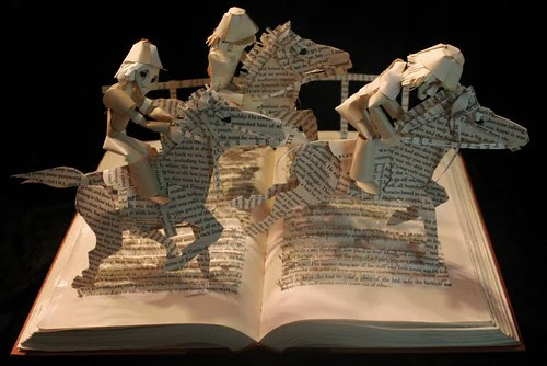 Horse Heaven book sculpture