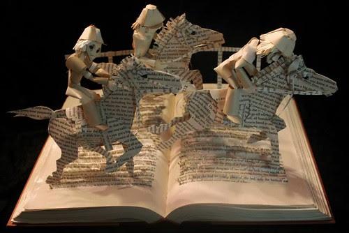 Horse Heaven book sculpture