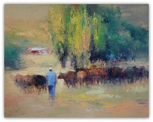 Bringing Them Home. Sunnyside Farm. by Peter G Hall