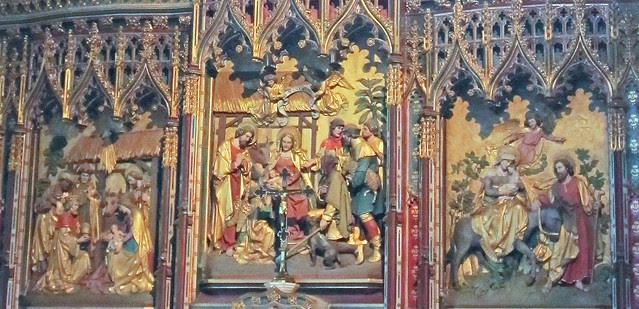 close-up of altar-piece