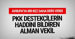 PKK destekçilerine haddini bildiren Alman vekil konuştu