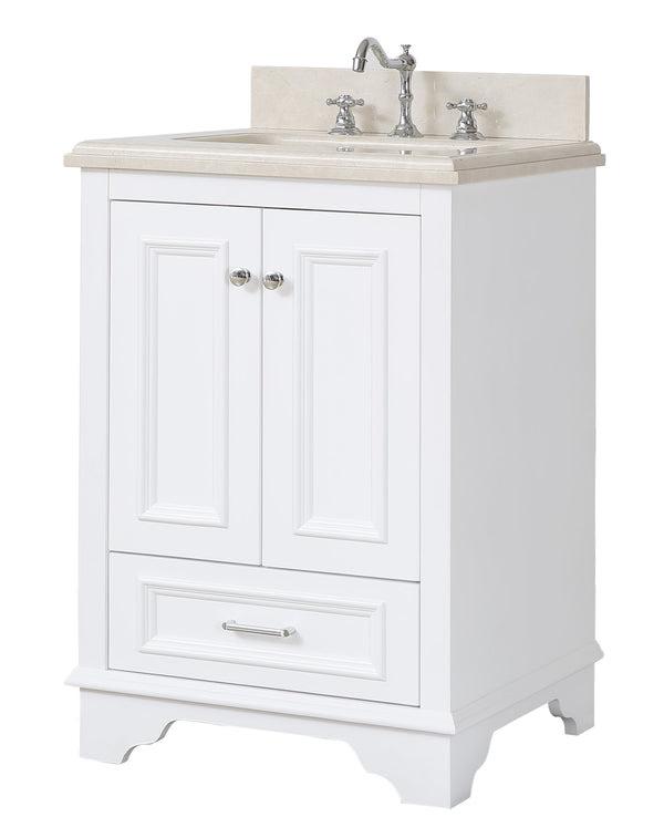 """Nantucket 24"""" Traditional Bathroom Vanity with Crema ..."""