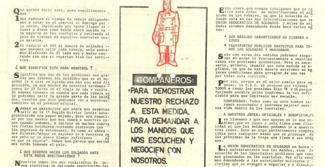 Reivindicaciones de la UDS, en un número de 'El Soldado'