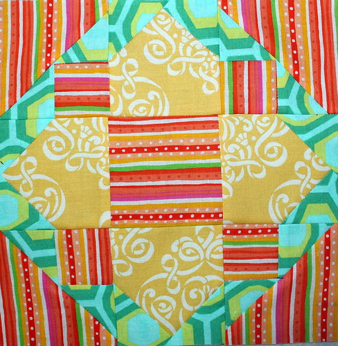June Lotto Block for the Madison Modern Quilt Guild
