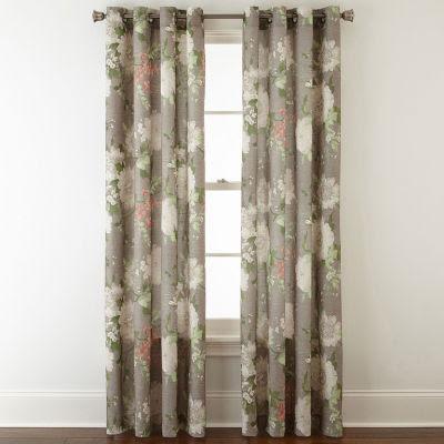 Jcpenney Home Farrah Grommet Top Curtain Panel Jcpenney