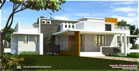 single floor contemporary house design indian plans
