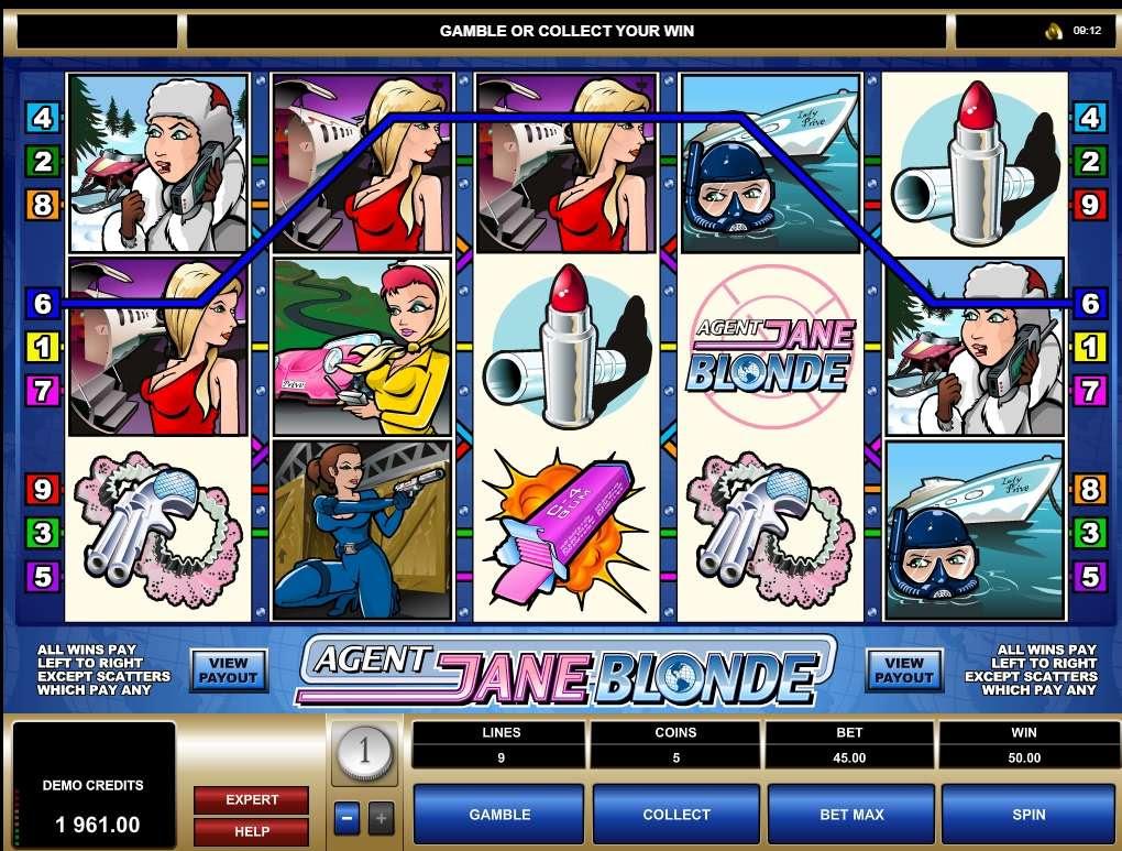 Agent Jane Blonde (Агент Джейн Блонд) в Слотомании бесплатно для всех любителей игровых автоматов! Ухта