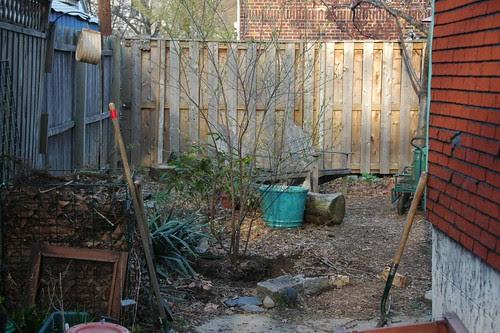 View to gardener's corner, after transplant