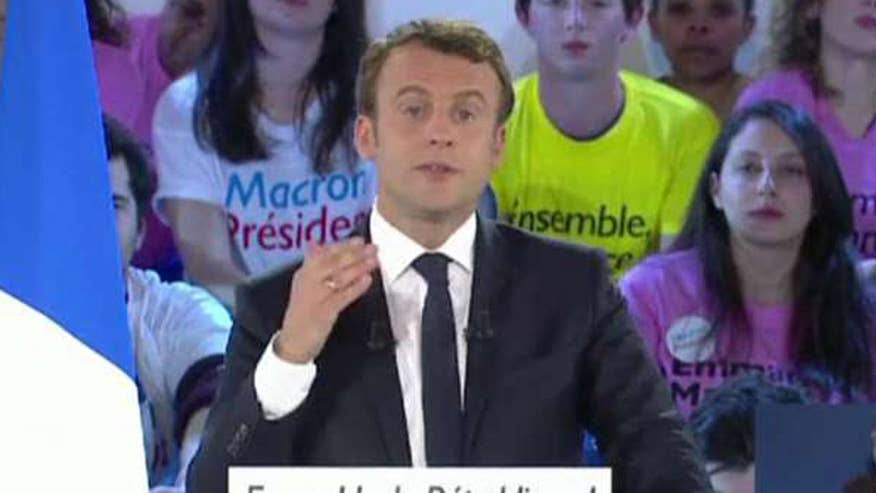 Image result for Emmanuel Macron wins French presidential election over rival Marine Le Pen