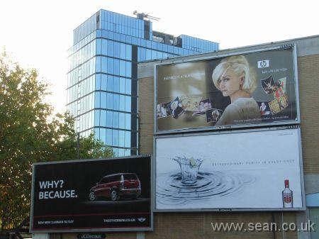 Photo of Billboard showing Gwen Stefani promoting printers