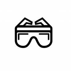 保護メガネシルエット イラストの無料ダウンロードサイトシルエットac