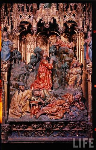 Detalle del altar mayor de la Catedral de Toledo en 1963. Fotografía de Dmitri Kessel. Revista Life (18)