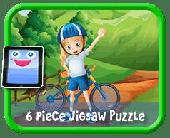 Biker Kid - 6 Piece Online jigsaw puzzle for kids