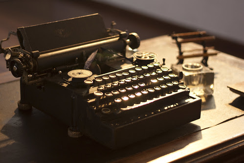 Old typewriter. Photo title is And my work today will be...