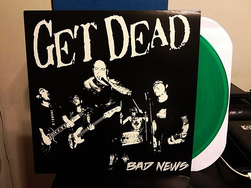 Get Dead - Bad News LP - Green Vinyl by Tim PopKid