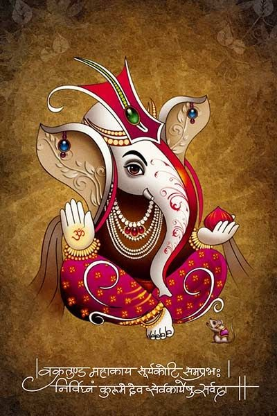 20 Ganesh Ji HD Good Morning Images for Whatsapp Status & Facebook Status in Hindi - Wednesday Special