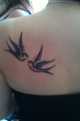 Two Lovely Bird Tattoo On Shoulder Tattoomagz