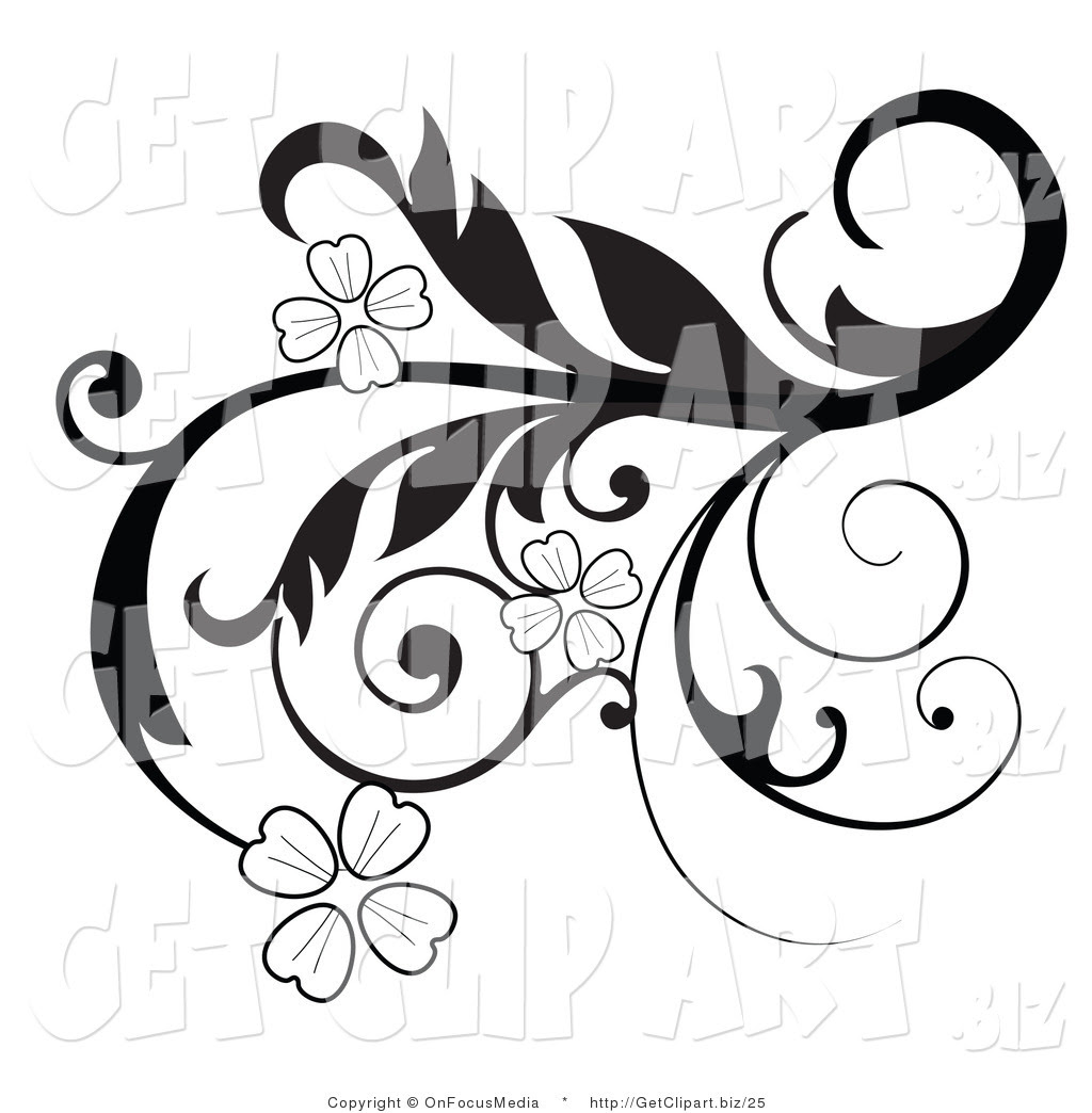 Black And White Clipart Flower Free Download Best Black And White