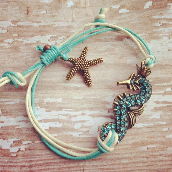 Seahorse Bracelet---great for stacking or wearing alone. Personalized, Hand-Stamped Jewelry on Etsy, $18.00