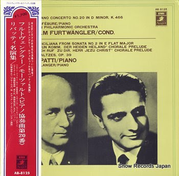 FURTWANGLER, WILHELM mozart; piano concerto no.20 in d minor k.466