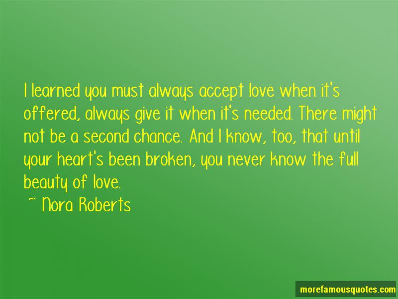 Give Me A Second Chance To Love You Quotes Top 1 Quotes About Give