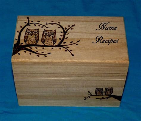 Decorative Wood Burned Personalized Handmade Owl Wedding
