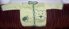 Vauvan neuletakki Novita Woolista (60 cm)