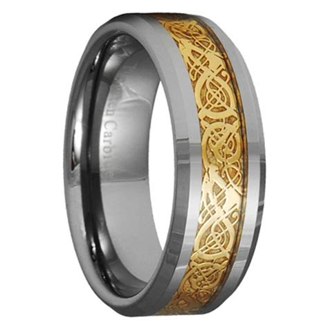 dragon tungsten carbide celtic ring mens jewelry wedding