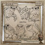CU Hand Drawn For the love of Owls Digistamps and Abr1