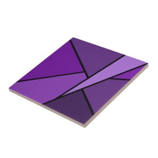 Abstract Purple Polygons Small Square Tile