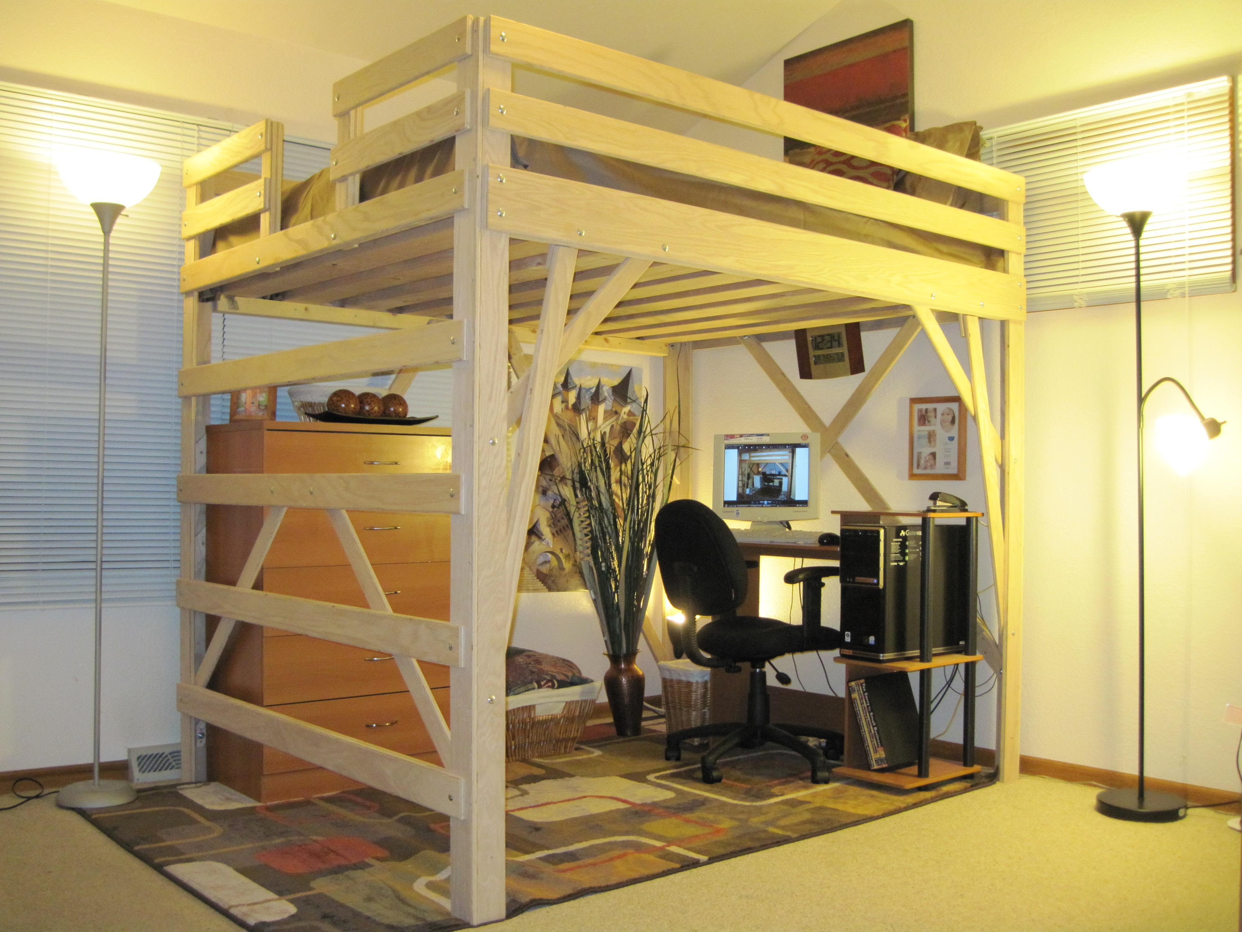 Woodworking Ideas For Beginner Loft Bed Plans Quilting Frame