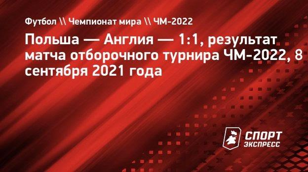Гол Шиманьски помог Польше избежать поражения вотборочном матче ЧМ-2022 против Англии