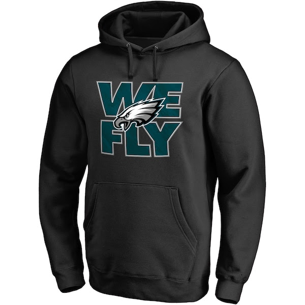 Mens NFL Pro Line Black Philadelphia Eagles Hometown Collection Pullover Hoodie