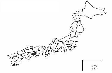 excelの玉手箱地図グラフ