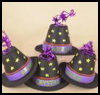 Witch's<br />  Hat Placeholder  : Table Placeholder Crafts for Kids