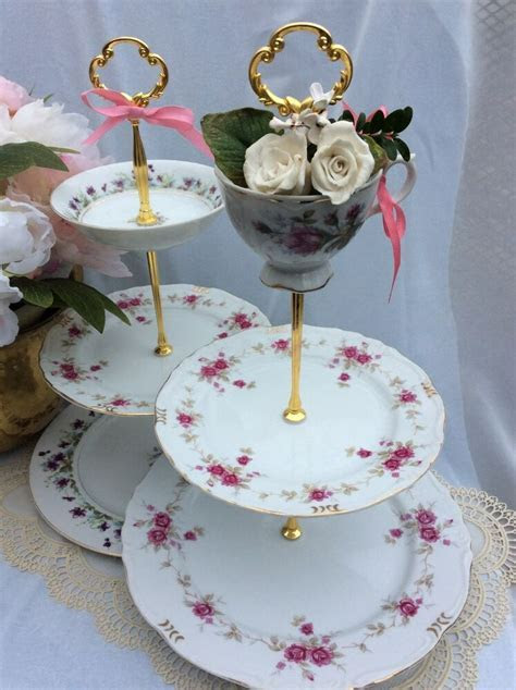Wedding Cake Stand(s),Tiered Serving Tray,3 Tier,Violets