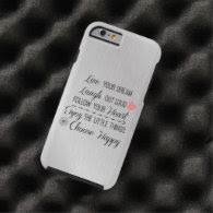 Motivational Happy Life Rules Quotes Tough iPhone 6 Case