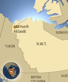 The housing unit fire took place Thursday night in Aklavik, N.W.T., located about 60 kilometres west of Inuvik.