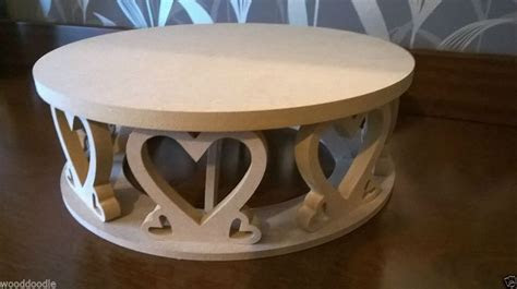 Heart shaped circular cake stand  MDF  craft, decorate