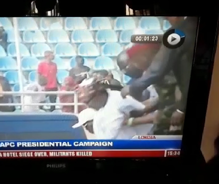 Image result for Video: Watch as Buhari slumps during campaign in Lokoja