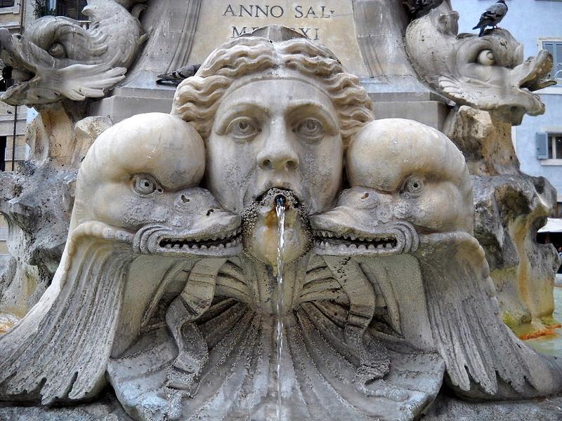 File:Roma piazza della Rotonda particolare fontana tre.jpg