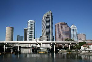 English: A view of Downtown Tampa, Florida.